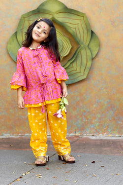 Pink Lilly Short Kurta Set