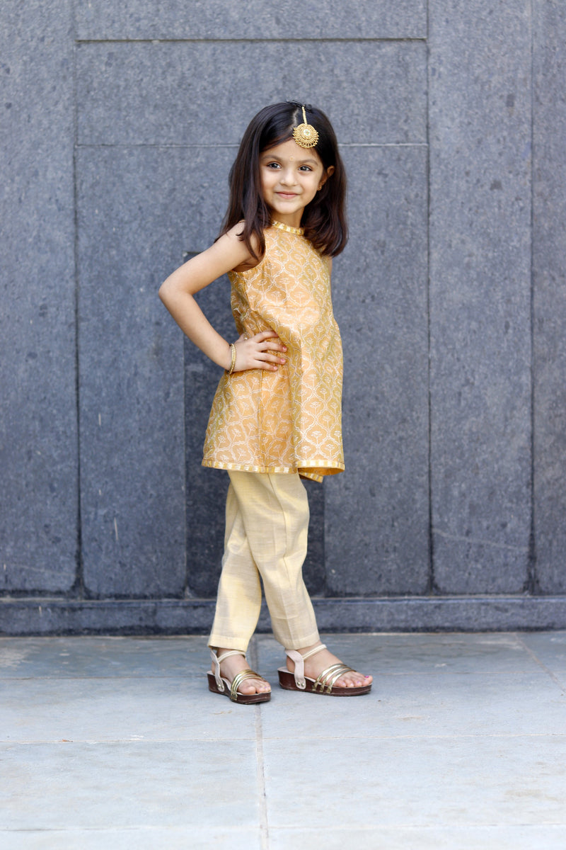 Shiny Golden Kurta Set