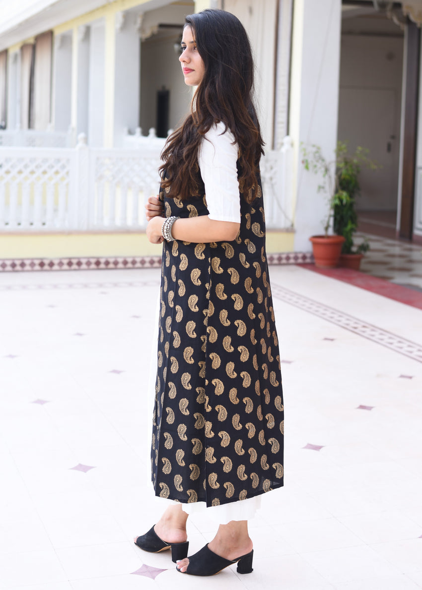 Long kurti with jacket