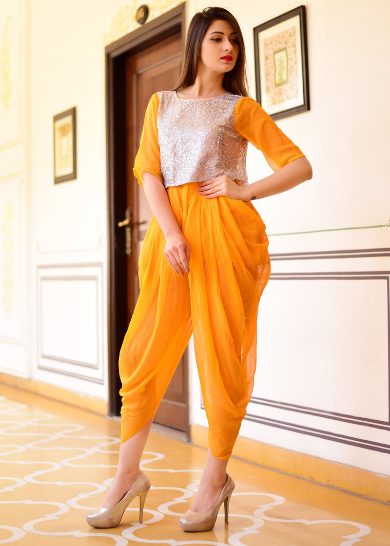Exclusive yellow jumpsuit