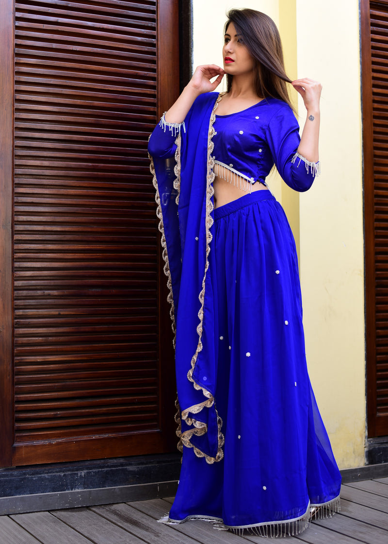 Exclusive blue lehanga dress