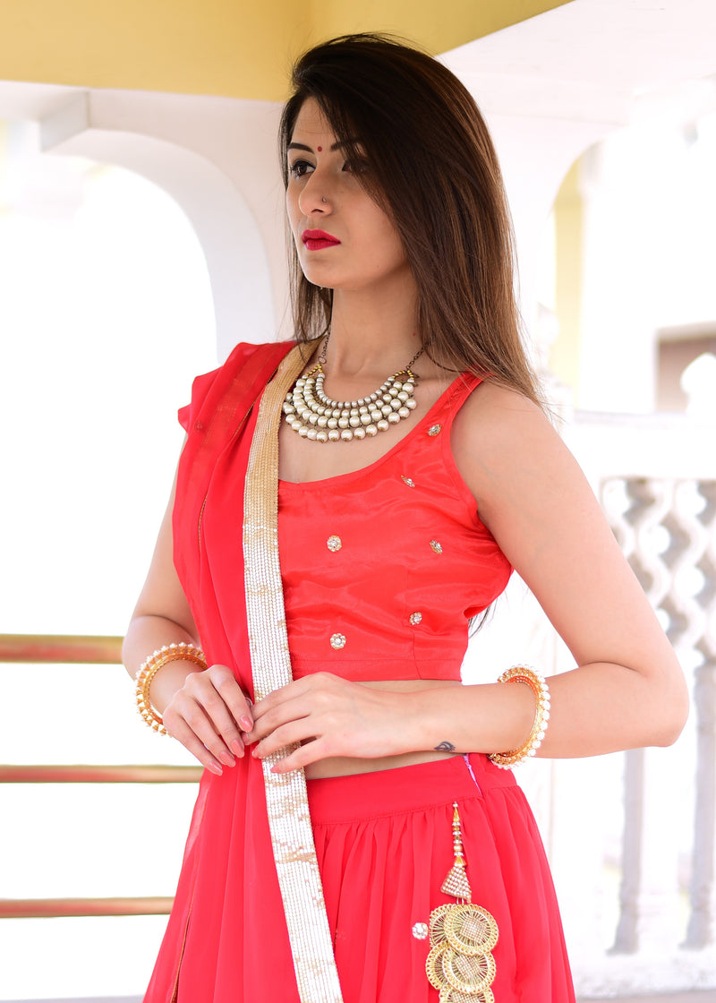 Beautiful red top & skirt