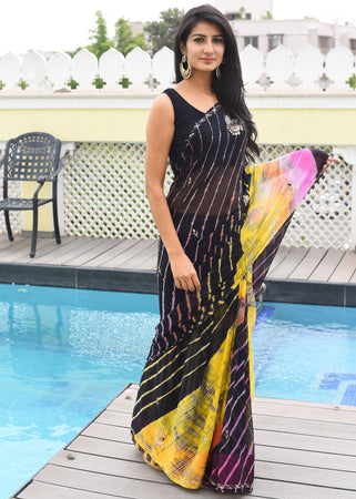 Beautiful shaded lahriya saree