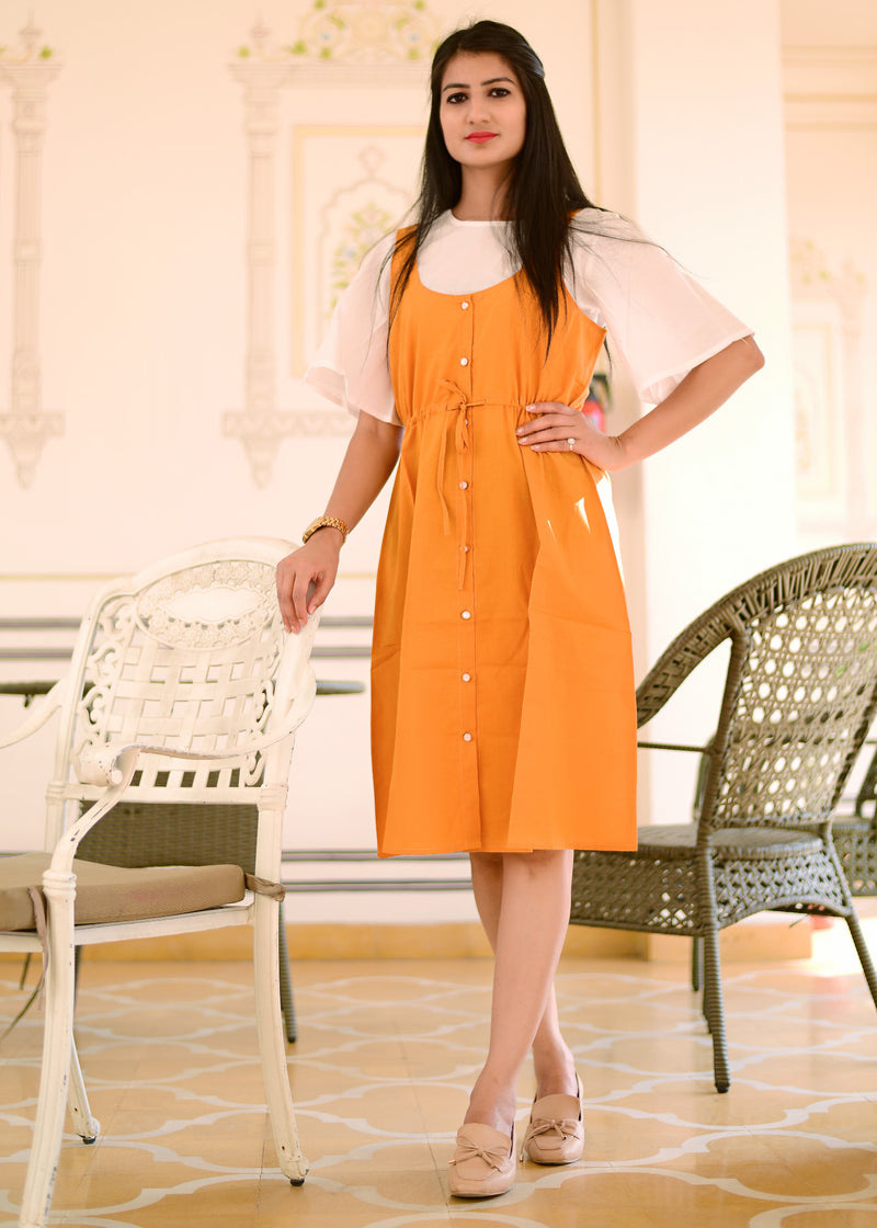 Exclusive Beautiful mustard dress