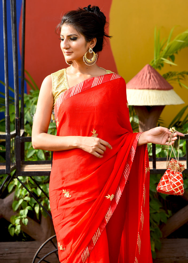 Exclusive beautiful red saree