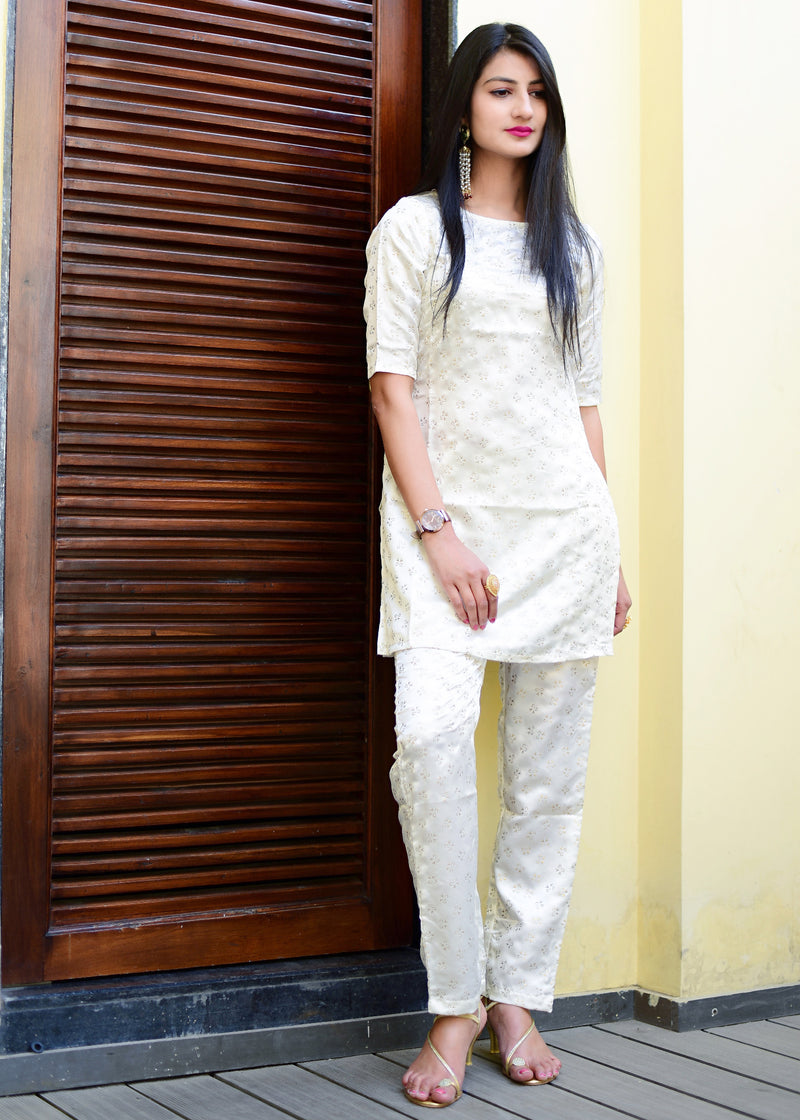 Ghost white kurti and pant set
