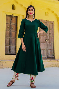 Forest Green Kurta Set