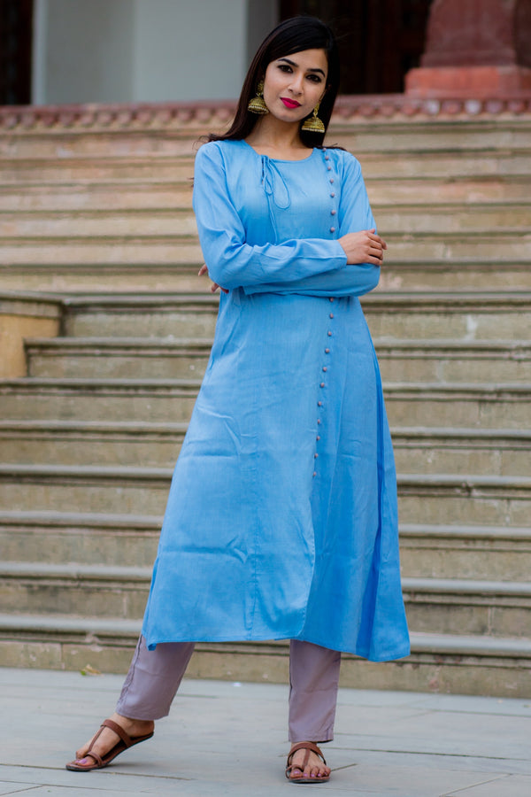 Sea Blue Kurta Set