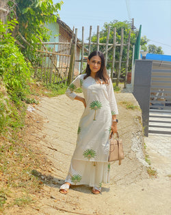 Tree Print Kurta Set
