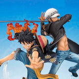 One Piece Zero - Mokey D. Luffy x Trafalgar Law Dramatic Effect Figuarts ZERO Statue by Bandai front closed up shot