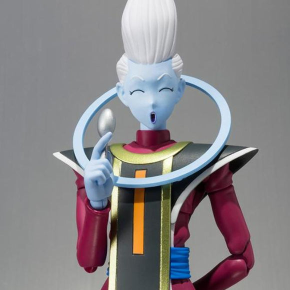 Dragon Ball Super Whis S.H.Figuarts Action Figure by Bandai - front closed up shot