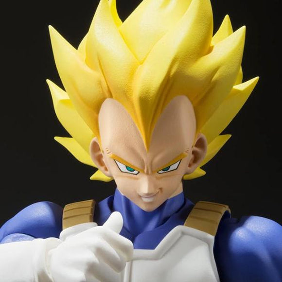 Dragon Ball Z - Super Saiyan Vegeta Action Figure - Bandai - S.H.Figuarts - 14cm