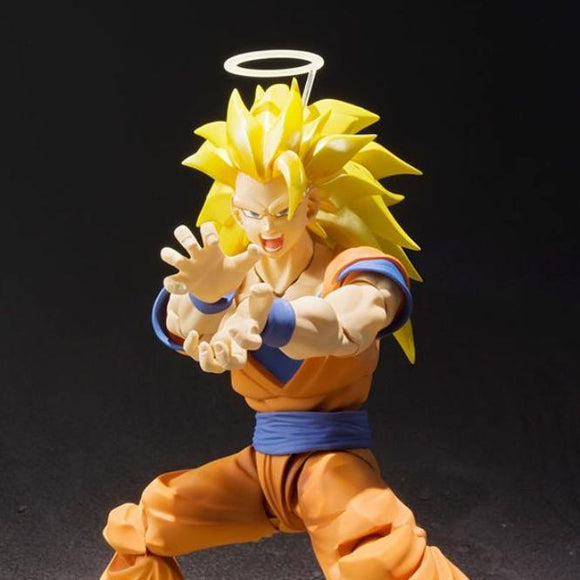 Dragon Ball Z Super Saiyan SS3 Son Goku S.H.Figuarts Action Figure by Bandai