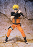 Naruto Shippuden - Naruto Uzumaki Sage Mode (Advanced Version) Action Figure - Bandai - S.H.Figuarts - front full body with attack pose