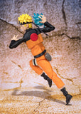 Naruto Shippuden - Naruto Uzumaki Sage Mode (Advanced Version) Action Figure - Bandai - S.H.Figuarts - side full body with Rasengan