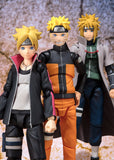 Naruto Shippuden - Naruto Uzumaki Sage Mode (Advanced Version) Action Figure - Bandai - S.H.Figuarts - front with Boruto and Hokage