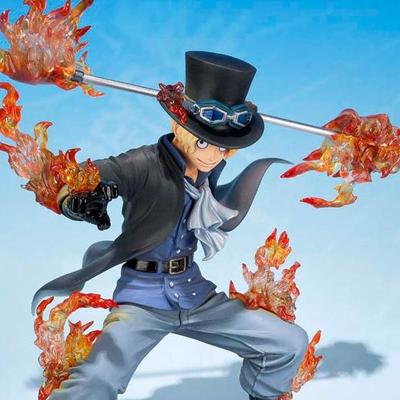 One Piece Zero - Sabo Flaming Attack Pose Action Figure - Bandai - Figuarts ZERO - 15cm