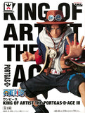 One Piece Portgas D. Ace King of Artist Figure Statue by Banpresto box