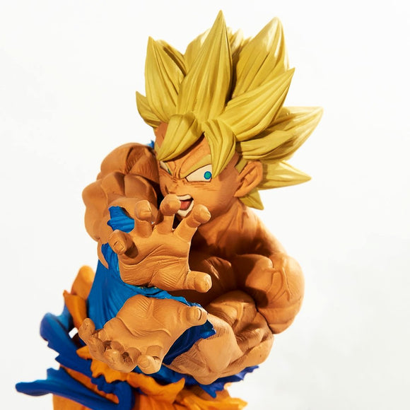 Dragon Ball Z - Super Saiyan Goku Kamehameha Pose BWFC (Banpresto World Figure Colosseum) Vol 1 Figure Statue - Banpresto - 16cm