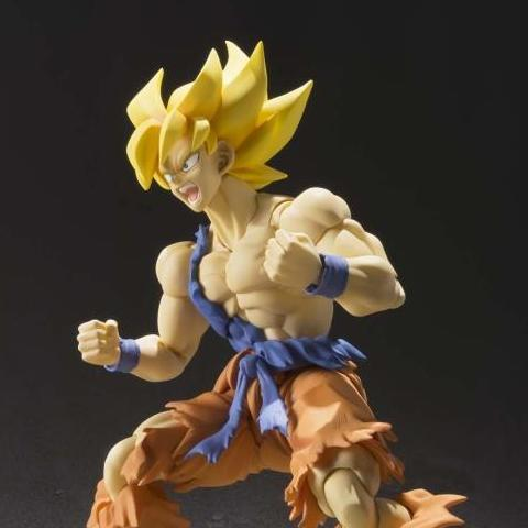 Dragon Ball Z - Super Saiyan Son Goku Warrior Awakening Version Action Figure - Bandai - S.H.Figuarts - 16cm