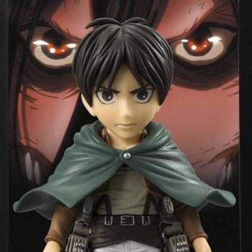 Attack on Titan - Eren Yeager Background Frame Figure - Bandai - Buddies - 10cm