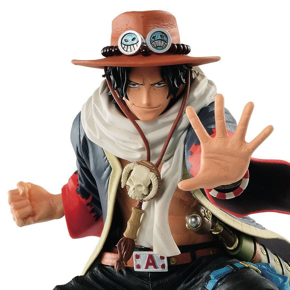 One Piece Portgas D. Ace King of Artist Figure Statue by Banpresto front closed up shot