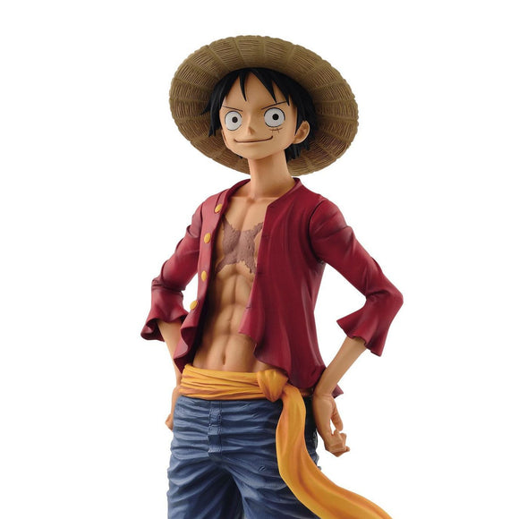 One Piece - Monkey D. Luffy Grandista Solution of Soldiers Large Figure Statue by Banpresto upper body shot