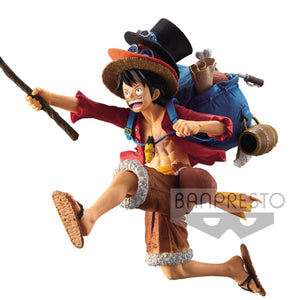 One Piece - Monkey D. Luffy SP Design Luffy Ace Sabo Hats Figure Statue by Banpresto