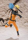 Naruto Shippuden Naruto Uzumaki Sage Mode S.H.Figuarts Action Figure by Bandai - front attack pose with rasengan closed up shot