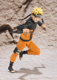 Naruto Shippuden Naruto Uzumaki Sage Mode S.H.Figuarts Action Figure by Bandai - front attack pose full body shot