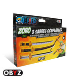 One Piece - Roronoa Zoro Cosplay Set of 3 Inflatable Swords - Obyz - in package