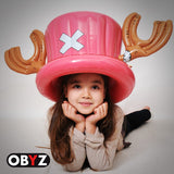 One Piece - Tony Tony Chopper Cosplay Inflatable Hat - Obyz - with little girl