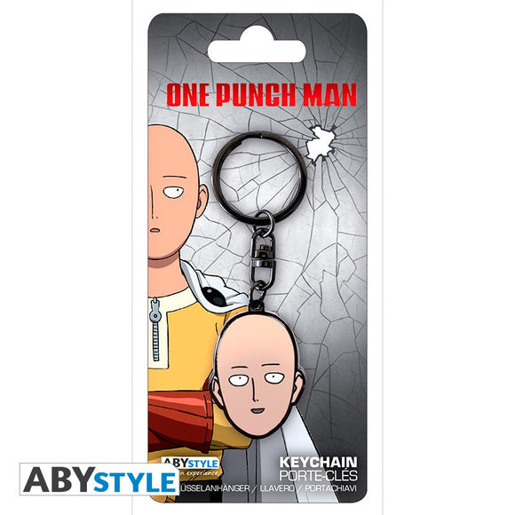 One Punch Man - Saitama Head Keychain - ABYstyle - with package