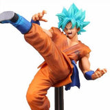 Dragon Ball Super - Goku Super Saiyan Blue High Kick Pose Action Figure Collectible Model - Banpresto - 18cm - front zoom in