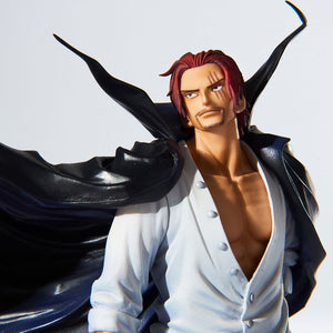 One Piece - Red-Haired Shanks BWFC (Banpresto World Figure Colosseum) Figure Statue by Banpresto face closed up shot