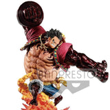 One Piece - Monkey D. Luffy Gear 4 Kong Gun Crimson Color Ver. Large Figure Statue - Banpresto - 24cm