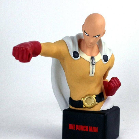 One Punch Man - Saitama Punching Bust Money Bank by Semic front shot