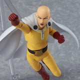One Punch Man Saitama Figma Action Figure by Max Factory - front shot of the flying punch pose