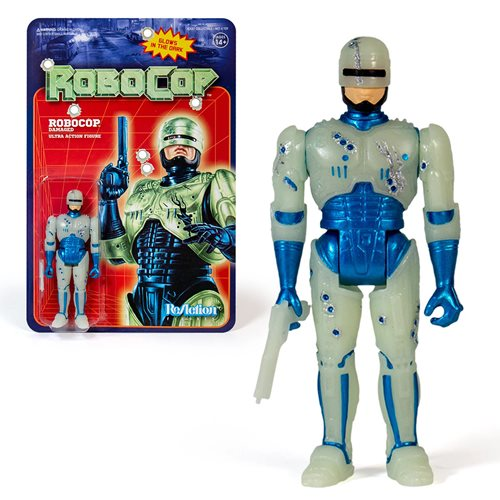 Super7 ReAction RoboCop Glow in the Dark Battle Damaged NYCC Excl. 3.75
