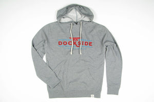 Dockside French Terry Fleece Hoodie- Gray