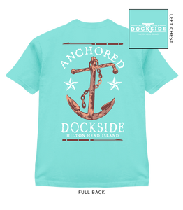 Anchored T-Shirt-Island Reef Green