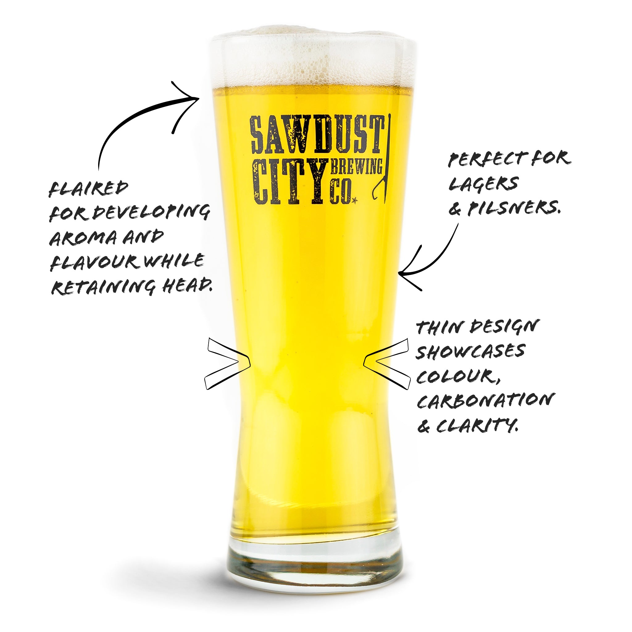 About the Lager Glass Shape