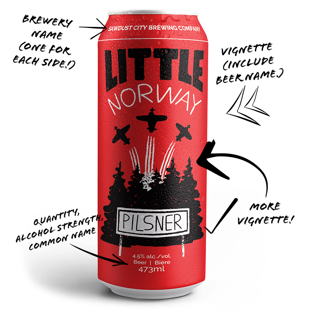 Little Norway Can Design Brewkdown