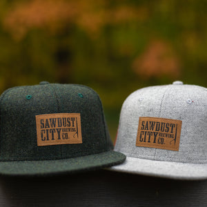 Wool Hat - Grey & Green