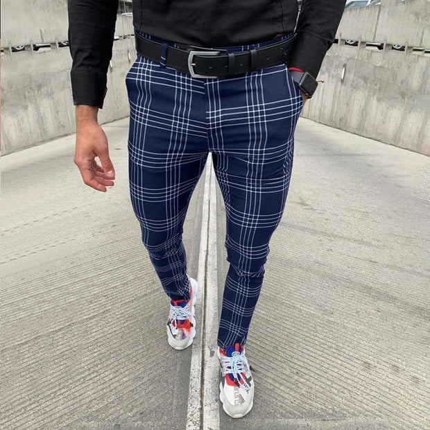 Pantalon À Carreaux Moderne