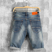 Short denim vintage destroy