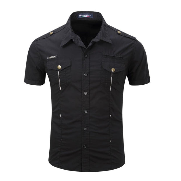 Chemise cargo manches courtes