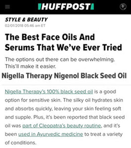 Nigella Therapy Nigenol featured on the Huffington Post
