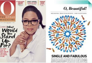 Oprah Magazine April 2018 issue with Nigella Therapy Night Serum feature.