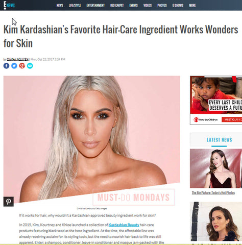 Nigenol featured on E! News with Kim Kardashian image.